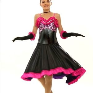 CurtAin Call Dance Costume Can Can Tap Jazz NWOT